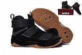 Nike Zoom LeBron Soldier 10 Black Gum Mens Nike Lebron James Basketball Shoes SD4,baseball caps,new era cap wholesale,wholesale hats