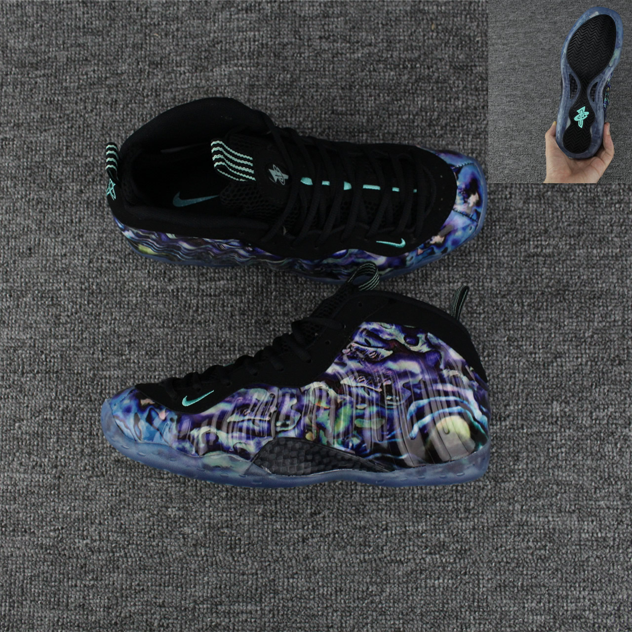 innovative design 76688 c1c76 Nike Air Foamposite One PRM Abalone Mens Nike Foamposites Basketball Shoes  SD71 - Getfashionsstore.