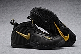 Nike Air Foamposite Pro Black Gold Mens Nike Foamposites Basketball Shoes SD61