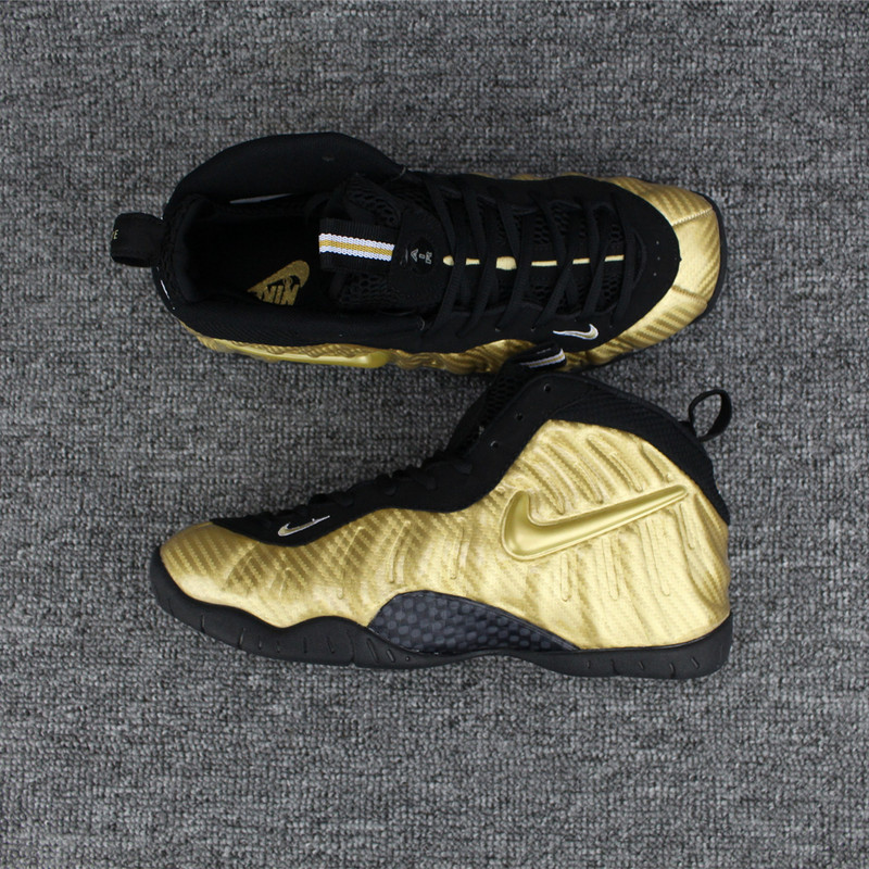 huge selection of fac35 09d7d Nike Air Foamposite Pro Metallic Gold Logo Mens Nike Foamposites Basketball  Shoes SD61 - Getfashionsstore.