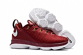 Nike Lebron 14 Low Shoes Red White Mens Nike Lebrons James 14s Basketball Shoes SD15