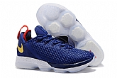 Nike Lebron 14 Low Shoes USA Blue White Mens Nike Lebrons James 14s Basketball Shoes SD18
