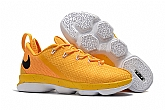 Nike Lebron 14 Low Shoes Yellow White Mens Nike Lebrons James 14s Basketball Shoes SD16