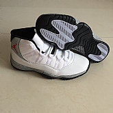 Air Jordan 11 Retro Grey White 2018 Mens Air Jordans Retro 11s Basketball Shoes XY285