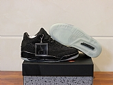Air Jordan 3 Retro Flyknit Black 2018 Mens Air Jordans Retro 3s Basketball Shoes XY138,baseball caps,new era cap wholesale,wholesale hats