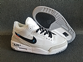 Off-white Air Jordan 3 Retro 2018 Mens Air Jordans Retro 3s Basketball Shoes XY137