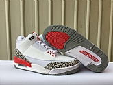 Air Jordan 3 Katrina White Red 2018 Mens Air Jordans Retro 3s Basketball Shoes XY132,baseball caps,new era cap wholesale,wholesale hats