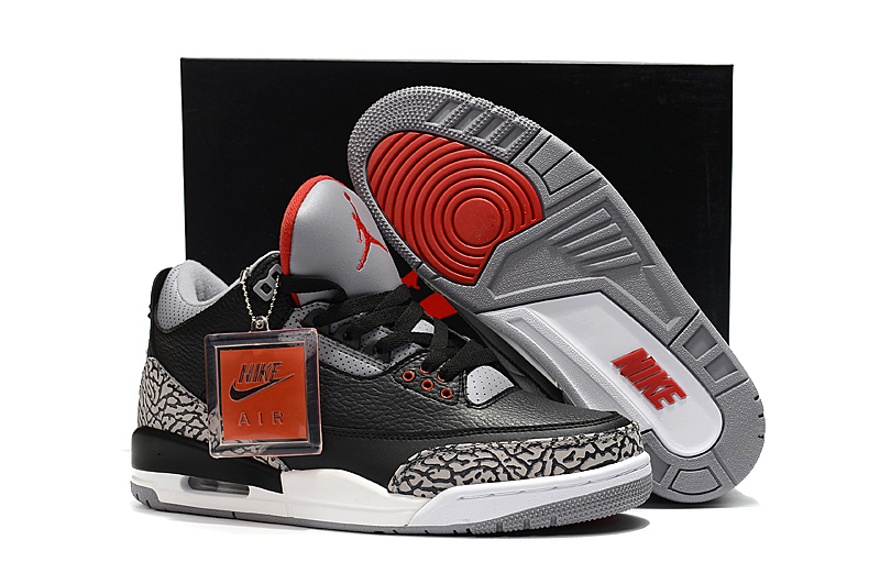 new product 12d17 322bf Air Jordan 3 OG Black Cement 2018 Mens Air Jordans Retro 3s Basketball  Shoes AAAA Grade XY130 - Getfashionsstore.