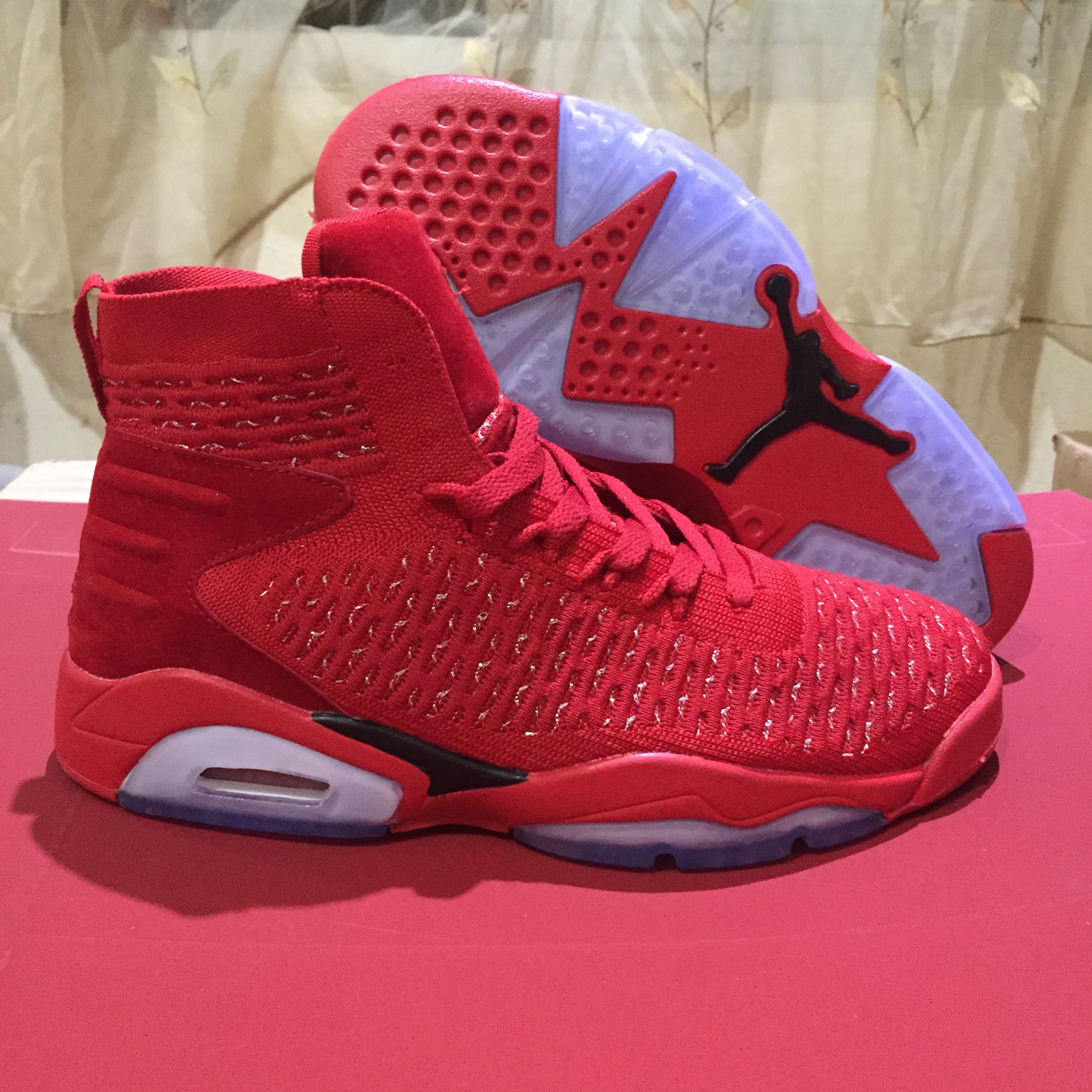 separation shoes f2d9d e1aa5 Air Jordan 6 Retro Flyknit Elevation 23 Red 2018 Mens Air Jordans Retro 6s  Basketball Shoes XY244 - Getfashionsstore.