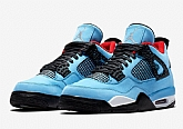 Travis Scott x Air Jordan 4 Houston Oilers 2018 Mens Air Jordans Retro 4s Basketball Shoes XY209,baseball caps,new era cap wholesale,wholesale hats