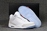 Air Jordan 3 Pure White 2018 Mens Air Jordans Retro 3s Basketball Shoes XY133