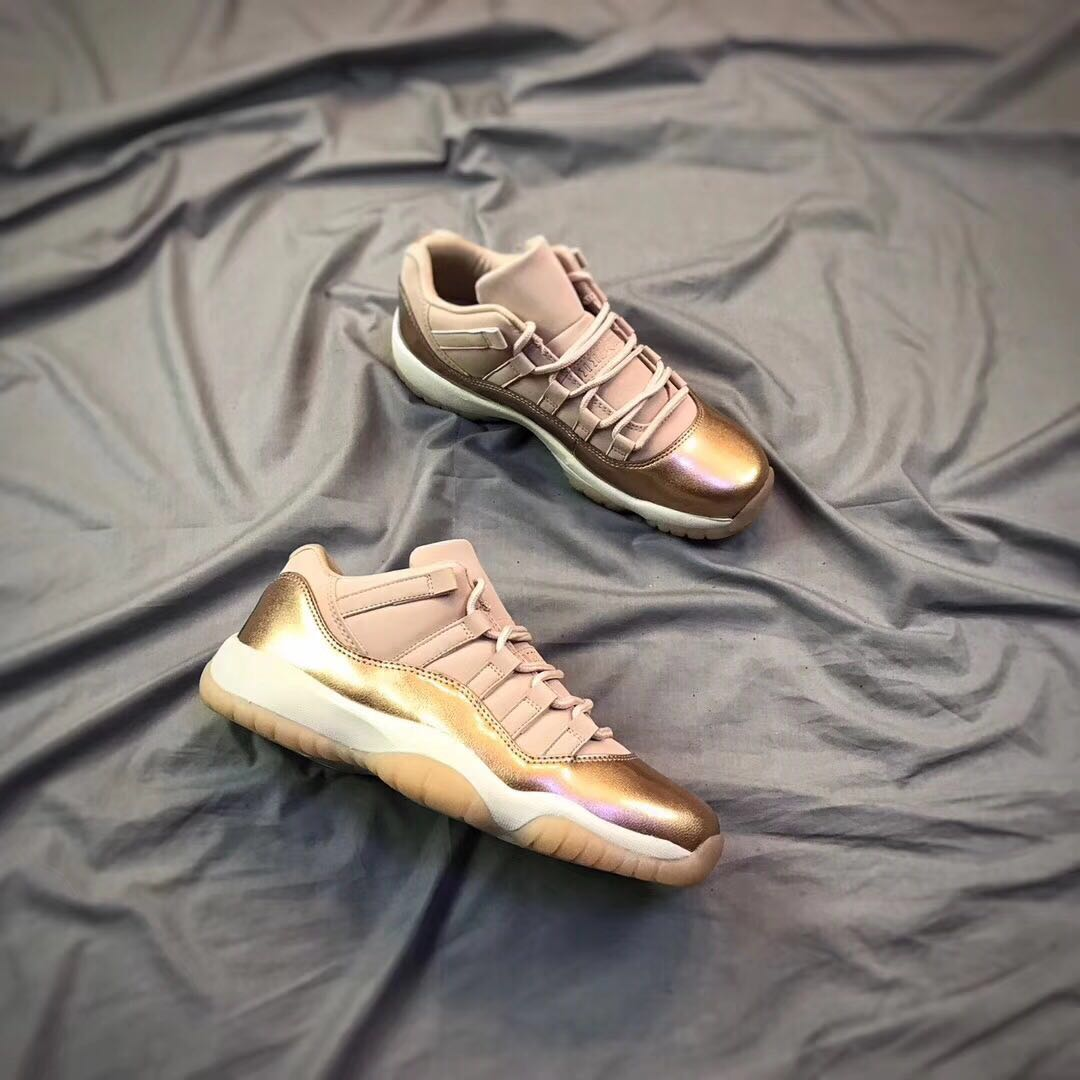 sports shoes 5b193 ea361 Air Jordans 11 Low GS Rose Gold 2018 Girls Womens Air Jordans Retro 11s  Basketball Shoes XY61 - Getfashionsstore.