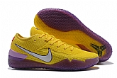 Nike Kobe AD NXT 360 Yellow Strike Mens Nike Kobe Bryant Basketball Shoes XY4