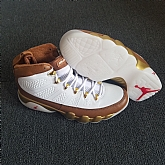 Air Jordan 9 Retro Gold White 2018 Mens Air Jordans 9s Basketball Shoes XY94,baseball caps,new era cap wholesale,wholesale hats
