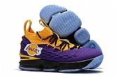 LeBron 15 Lakers Shoes 2018 Mens Nike Lebrons James 15s Basketball Shoes XY66,baseball caps,new era cap wholesale,wholesale hats