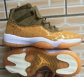 Air Jordan 11 Gold Mens Retro Jordans 11s Shoes XY2