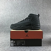 Air Jordan 12 Retro Winterized all black 2018 Mens Air Jordans Retro 12s Basketball Shoes XY196