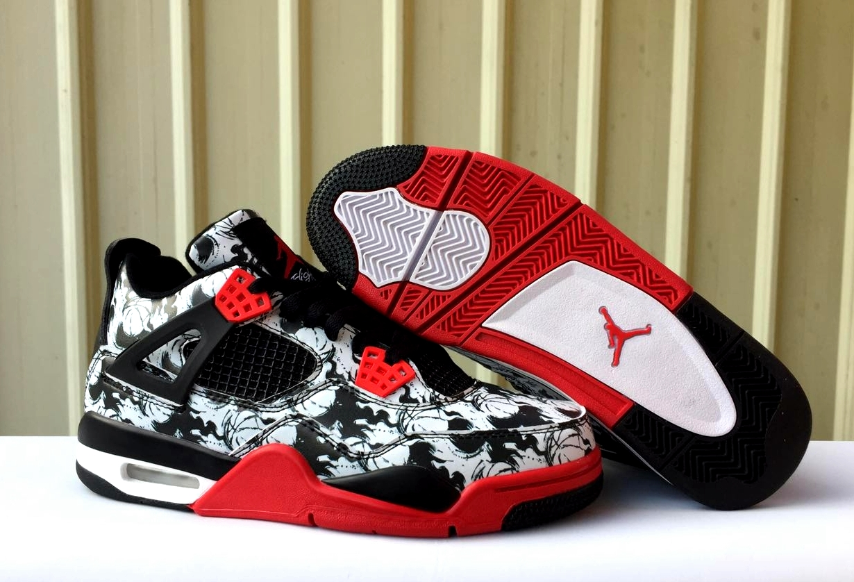 buy online a3b6a 762bc Air Jordan 4 Tattoo Mens Retro Jordans 4s Shoes XY - Getfashionsstore.