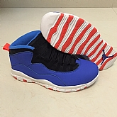 Air Jordan retro 10 Blue Red 2018 Air Jordans Retro 10s Basketball Shoes XY7