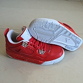 Air Jordans 4 Retro Red 2018 Girls Womens Air Jordans Retro 4s Basketball Shoes XY29