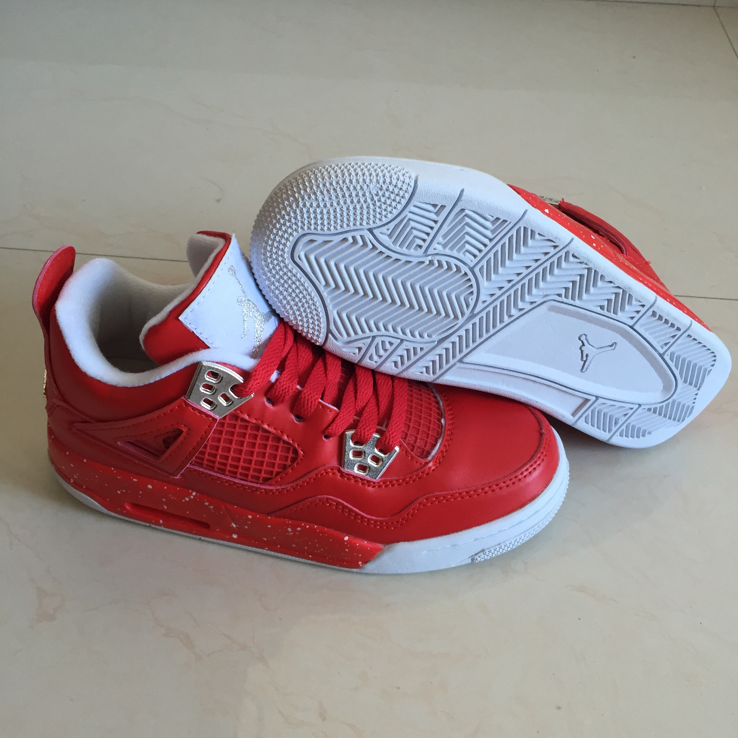 new concept 6e09a e8d5f Air Jordans 4 Retro Red 2018 Girls Womens Air Jordans Retro 4s Basketball  Shoes XY29 - Getfashionsstore.