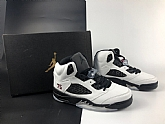 Air Jordans 5 Retro PSG White Mens Air Jordans 5s Basketball Shoes XY218