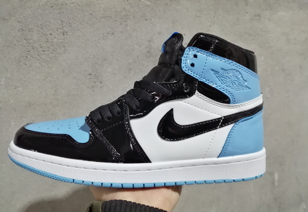 wholesale dealer bd4bf 44ad5 Air Jordan 1 UNC Patent 2019 Womens Jordans Retro 1s Shoes XY4 -  Getfashionsstore.