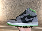 Air Jordan 1 Retro High Grey Green Mens Retro Jordans 1s Shoes SD12