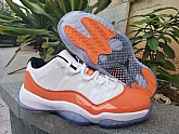 Air Jordan 11 Low Orange Trance Mens Retro Jordans 11s Shoes SD7