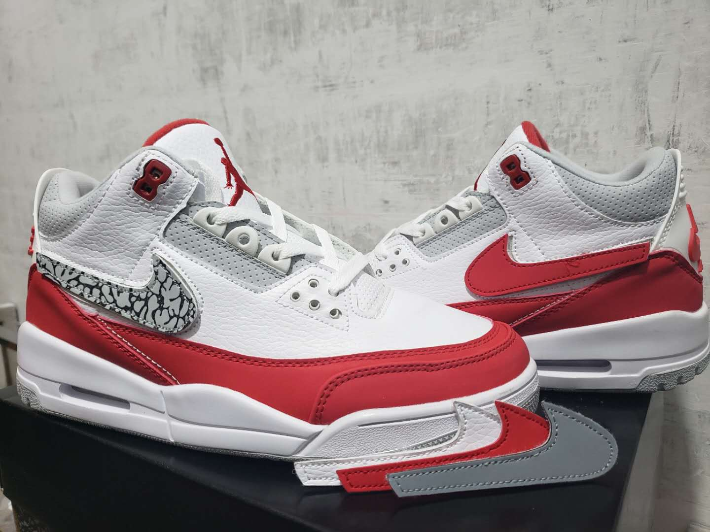 finest selection 39d53 ae1b5 Air Jordan 3 Retro White Red 2019 Mens Retro Jordans 3s Shoes SD1 -  Getfashionsstore.