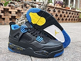 Air Jordan 4 Black Blue Yellow 2019 Mens Retro Jordans 4s Shoes SD13